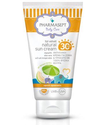 pharmasept_tol_velvet_baby_natural_sun_cream_spf30_100ml_n