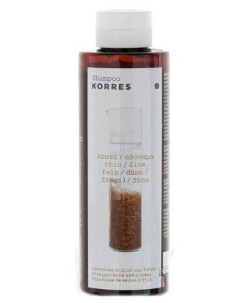 Korres Σαμπουάν Πρωτεΐνες Ρυζιού & Τίλιο 250ml