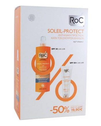 Roc-Prο-Soleil-Protect-Moisturising-Spray-Lotion-SPF30-200ml-&-Anti-Spot-Cream-50-ml-e-sante.gr