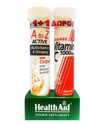 Health-Aid-A-To-Z-Active-Multivitamins-&-Ginseg-with-CoQ10-20-s-+-Vitamin-C-1000-mg-20-s-e-sante.gr