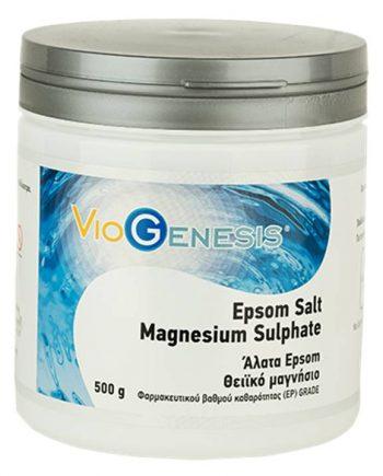 Viogenesis-Epsom-Salt-Magnesium-Sulphate-500gr-e-sante.gr