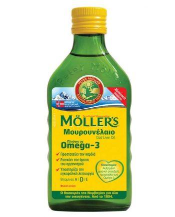 Moller's-Cod-Liver-Oil-Μουρουνέλαιο-Natural-250ml-e-sante.gr