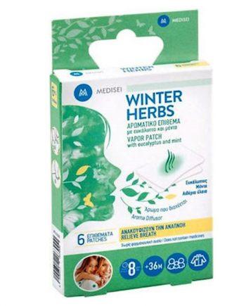 Medisei-Winter-Herbs-Αρωματικό-Επίθεμα-Ευκάλυπτο-Μέντα-6τμχ-e-sante.gr