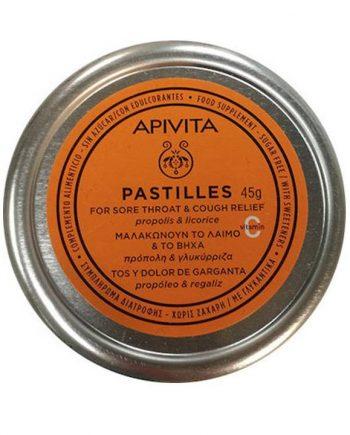 Apivita-Pastilles-Πρόπολη-Γλυκύρριζα-45gr-e-sante.gr